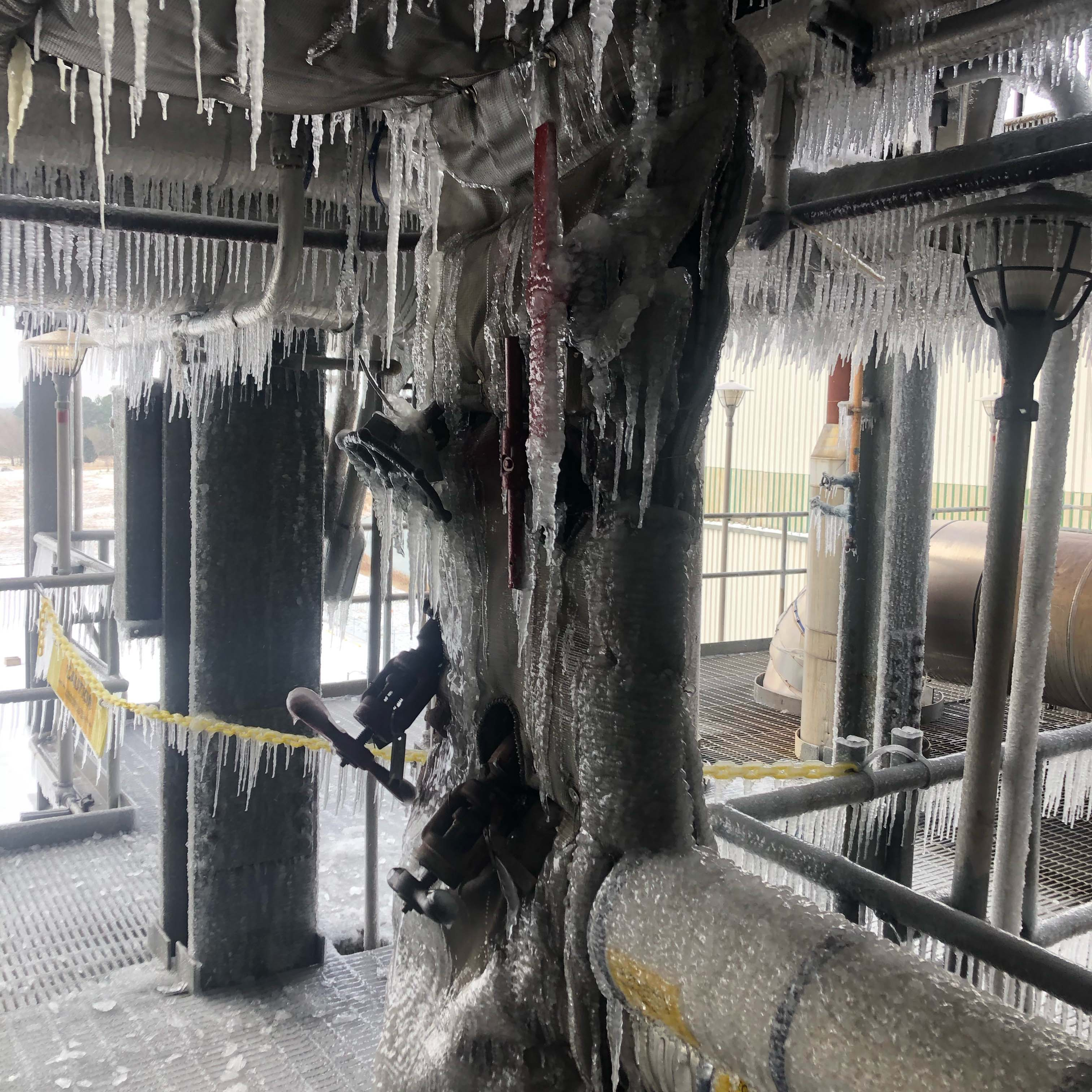 Gas power plants across the state froze, taking 26,000MW, of what was billed as reliable base load power, offline. Photo credit: Entergy