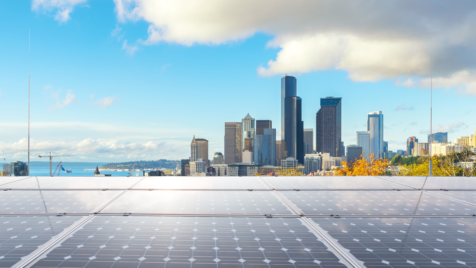 <h4>100% Renewable</h4> <h5>Goal: Convince 50 campuses, a dozen key cities, and half a dozen key states to go 100 percent renewable.</h5> <em>Los Angeles / zhu difeng via Shutterstock.com</em>