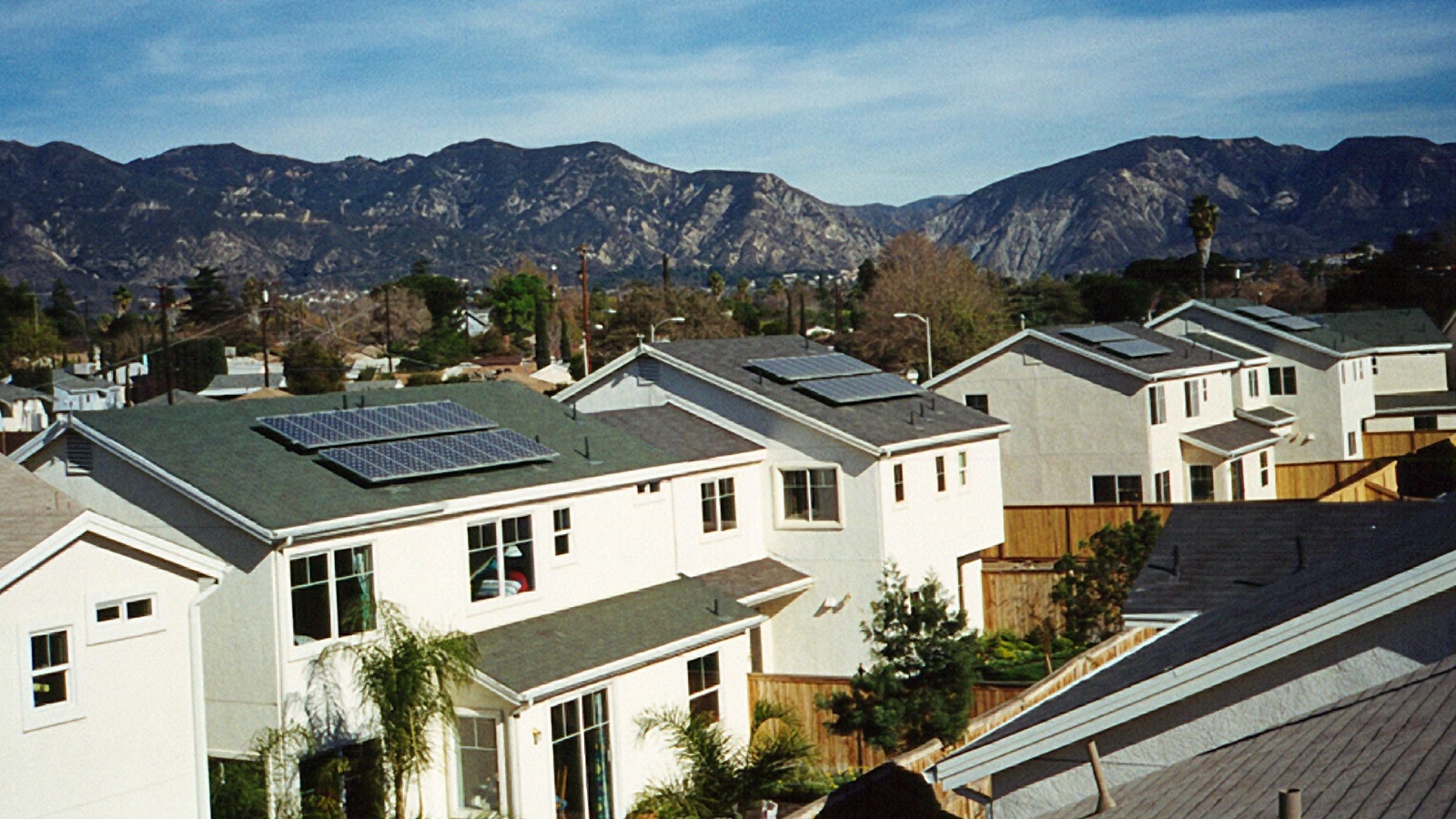 <h4>Go Solar</h4> <h5>Goal: Ask 50 cities to go big on solar and defend our local and state progress.</h5> <em>Village Green, California / National Renewable Energy Laboratory Photo</em>