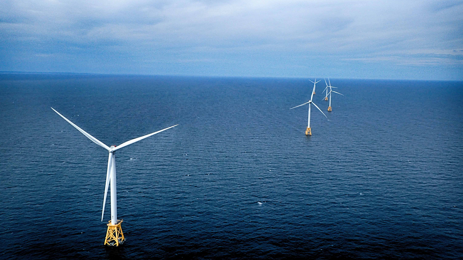 <h4>Go Big On Offshore Wind</h4> <h5>Goal: Convince six states to harness the wind that blows off their shores.</h5> <em>Block Island Wind Farm, R.I. / Ionna22</em>